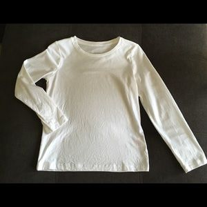 [faded glory] girl's white long sleeve shirt NWOT